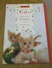"Hallmark Christmas Card ""for you nanna"" kittens"
