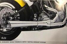 "1,75 /""Drag pipes Echappement pour Harley Davidson Softail FL 86-17 Touring 84-16"