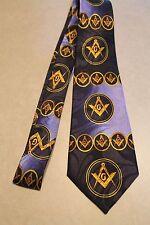 Fraternal Organization MASONIC Mason New Navy Blue 100% Polyester Neck Tie!