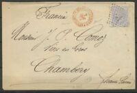 1879 Lettre CAD rouge *Espagne-Cerbères*Perpignan +25c Esp PO(65) Sup P2877