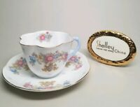 SHELLEY Sheraton and Grey Crystals (Dainty) 2336 TEA CUP & SAUCER SET Gold Trim