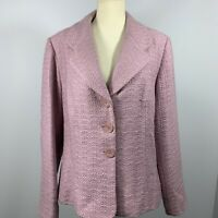 NWT Jacqui E Womans Button Up Lined Blazer Size 16 Lilac Purple Australia