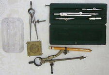 5PC. VINTAGE DIETZGEN COMPASS DRAWING SET. GERMANY