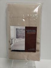 Hudson Park Collection Standard Pillow Sham Ladder Hemstitch Oat New