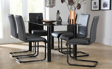 Unbranded Contemporary Glass Table & Chair Sets