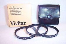 Vivitar 55 mm NEW Close-Up Lens Set (#1,#2,#4) Screw-In w Case/Box Japan (K-253)