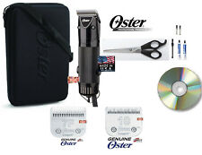 OSTER GOLDEN PET GROOMING A5 Clipper KIT w/ Cryogen-X 10&7F Blade,Case,DVD,Shear