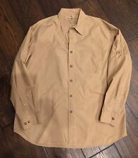 Rare Indian Terrain Outback League travel Utility Shirt Caramel Beige Sz XL 44