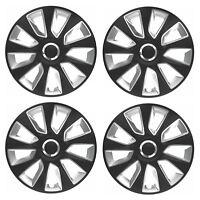 "4 x Wheel Trims Strat Hub Caps 15"" Covers fits Peugeot 106 107 108 206 207 208"
