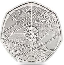 SIR ISAAC NEWTON 50p Coin 2017 **UNCIRCULATED** Fifty Pence rarer then Jemmina