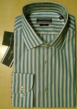 """""""TOMMY HILFIGER"""" TAILORED/FITTED GREEN/BLUE STRIPED SHIRT 16""""COLLAR/EU 41 BNWT"""