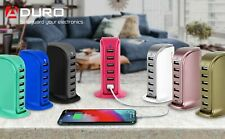 Aduro PowerUp 30W 6 USB Port Hub Desktop Charging Station for Multiple Devices
