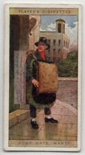 British Street Seller of Door Mats Original 100+ Y/0 Trade Ad Card