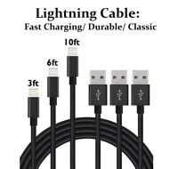 Braided Lightning Cable Fast Charge Sync Cord For iPhone 6 7 8 Plus XS XR 11 Max