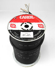 NOS 250' Roll Carol #1311 (1303) 18 Ga. 3 Cond. Rubber Jacket AC Power Cable. UP