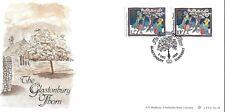 GB 1985 Christmas 12p & 13p Glastonbury Thorn Bradbury LFDC 56 cover