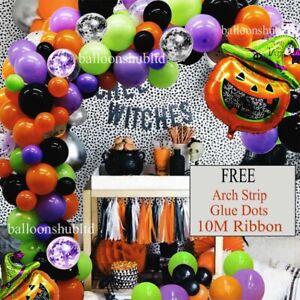 Halloween Confetti Latex Balloon Arch 100 Pc Kit Garland Party Halloween Decor