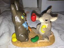 "Charming Tails ""Wanna Bite?"" Signed Dean Griff Silvestri Chocolate Bunny"