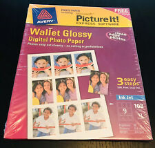Avery Wallet Glossy Express Software Digital Photo Paper