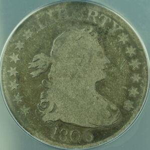 1806 Draped Bust Silver Quarter 25c Coin ANACS G-4 Good
