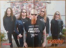EXODUS  POSTER Overkill/Metallica/Nuclear Assault/Vio-lence/Razor/Sodom/Kreator/