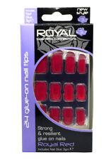 Kit de 24 Faux Ongles rouges avec Colle- 3g - Royal Red de Royal