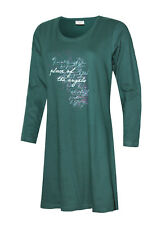 Nachthemd Damen Schlafshirt Bigshirt kurz lang Motto Spruch Shirt Baumwolle