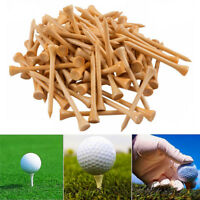 Wood Golf Tees 3 1/4 Inch-83mm Wood Color Bulk 200 Count Professional 4 Colors