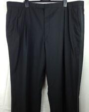 NWT Brooks Brothers Brooks Ease Men's Black Pleated Front Tuxedo Pants 46 Regula