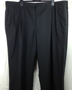 NWT Brooks Brothers Brooks Ease Men's Black Pleated Front Tuxedo Pants 46 Long
