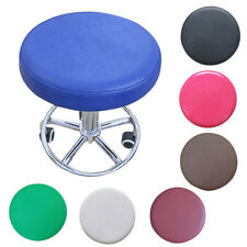 Round Stool Cover Faux Leather Chair Slipcover Bar Office Seat Cloth 12.99 inch