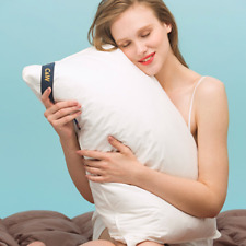 """My Pillow Classic Goose Down, Feather Bed High Thread Count Cotton White 20""""x28"""""""