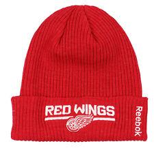 8e95cd7b9674f Reebok Detroit Red Wings Vuelta Gorro de Punto Talla Única Rojo Blanco  Invierno
