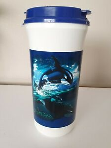 Sea World Plastic Cup Lid And Straw Refillable 1999 Whale