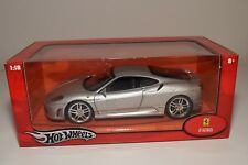 V 1:18 HOTWHEELS FERRARI F430 F 430 COUPE METALLIC GREY MINT BOXED