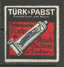 TÜRK & PABST Fish and Meat Paste advertising stamp/label