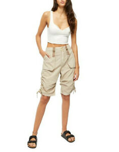 Free People Womens Cassidy OB1086473 Cargo Shorts Beige XS