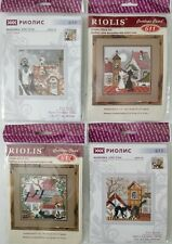 New Riolis City & Cats Spring Summer Autumn Winter Counted Cross Stitch Kits Lot