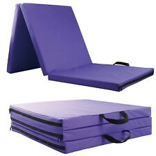 Folding Exercise Floor Mat Dance Yoga Gymnastics Training Home Judo Pilates Gym Blue
