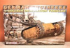 1/35 DRAGON GERMAN ENGINEERS w/GOLIATH DEMOLITION VEHICLES MODEL KIT # 6103