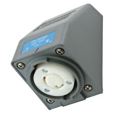 Hubbell HBL2320AR Receptacle Angle Housing Twist-Lock 20A 250V 2-Pole 3-Wire