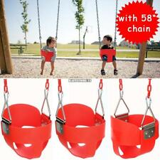 """Bucket Swing for Toddler Seat Set Playground Outdoors Play With 58"""" Steel Chain"""
