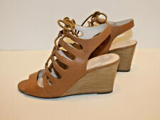 VINCE CAMUTO Lizbeth CaramelTan Leather Gladiator Sandals Shoes Sz.9B Eur 39
