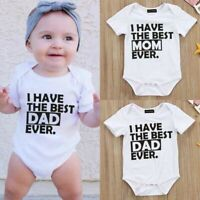 Newborn Baby Girls Boy Clothes Set Short Sleeve Romper Jump Suit X2M9