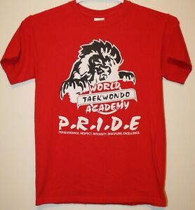 VTG WORLD TAEKWONDO ACADEMY P.R.I.D.E. HEART OF A LION Martial Arts sz S T-Shirt