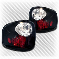 For 97-03 Ford F150 Flareside Blk Tail Lights Rear Brake Lamps Pair New Set