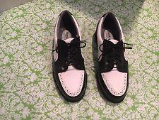 NWOB Ladies Etonic Black And White Golf Shoes 7 Soft Spikes