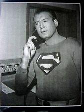 RARE STILL  SUPERMAN GEORGE REEVES ON STUDIO PHONE OFF CAMERA