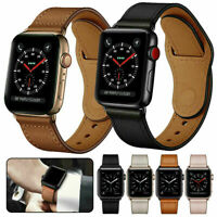 Genuine Leather Band Strap for Apple Watch Series 6 5 4 3 2 1 SE 38/40/42/44mm