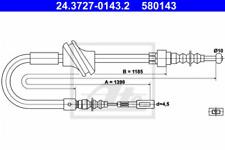 1526458 Handbremsseil Bremsseil UAT pour AUDI 80 90 Cabriolet Coupé